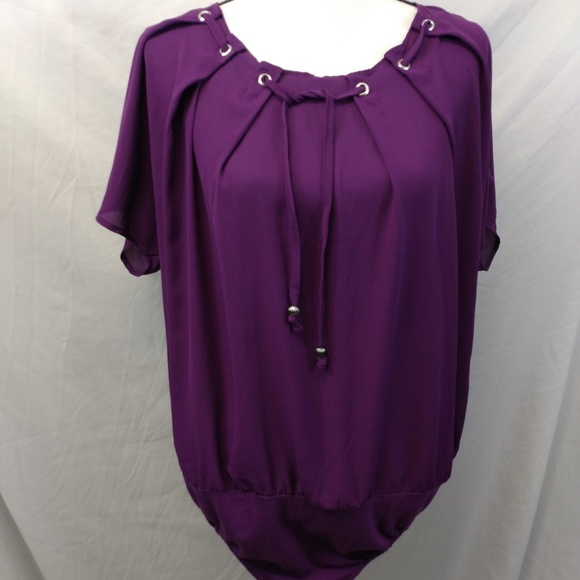 9a96f7cca6ea5 Ashley Stewart Tops - Ashley Stewart Purple Bodysuit Plus Size 18 20